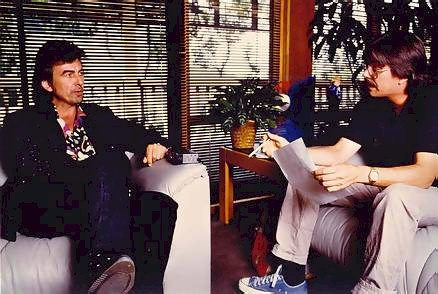 George Harrison and Rip Rense, 1988
