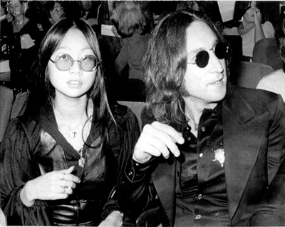 John Lennon And May Pang 1975